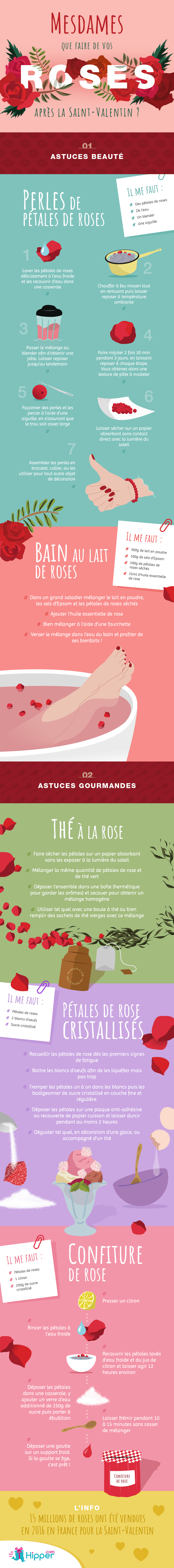 new infographic roses valentines day
